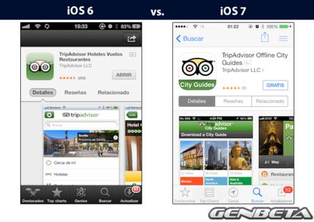 iOs 6 vs iOs 7 - appstore
