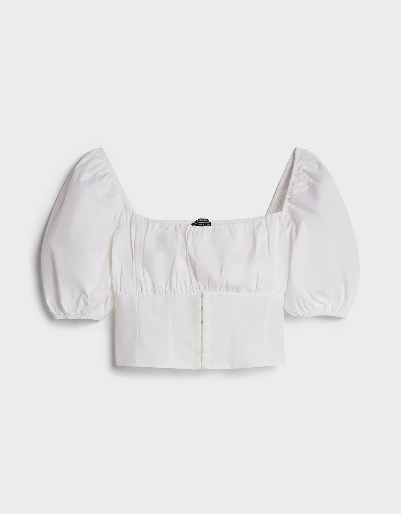 Blusa tipo corset popelín