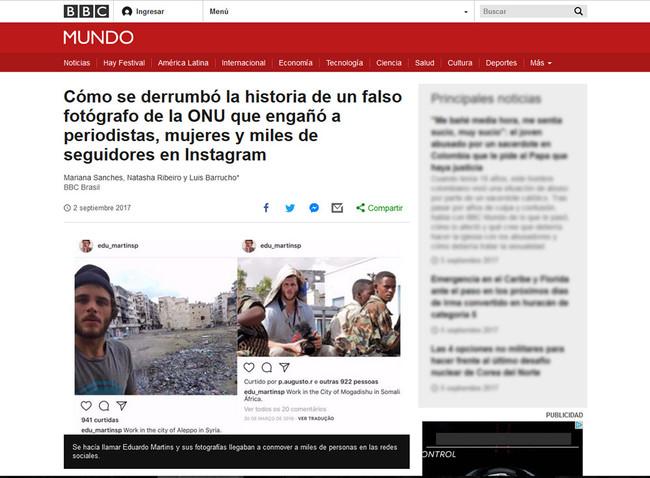 Nueva polémica por un supuesto fotoperiodista que trabajaba para la ONU y publicaba fotos robadas
