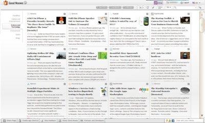 Good Noows, un lector online de feeds con énfasis en la parte visual