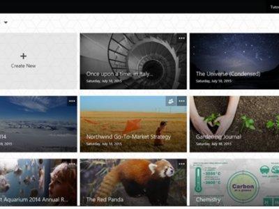Sway, el nuevo programa de presentaciones interactivas