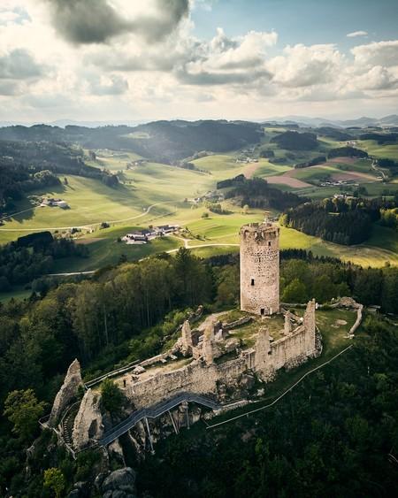 Old Castle Ruins In Upper Austria By Hardingmicha Austria