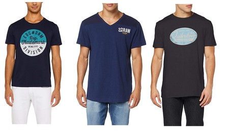 Ofertas por menos de 10 euros en camisetas para hombre: chollos en tallas sueltas de marcas como Quiksilver, Esprit o G-Star