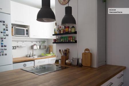 Cocinas con encimera de madera