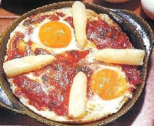 Huevos al plato a la zaragozana