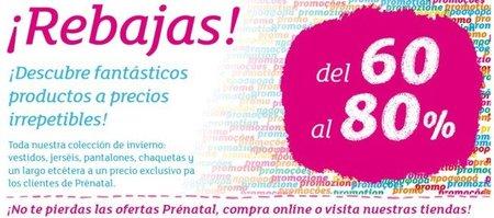 Prenatal tira la casa por la ventana ¡descuentos de hasta un 80%!