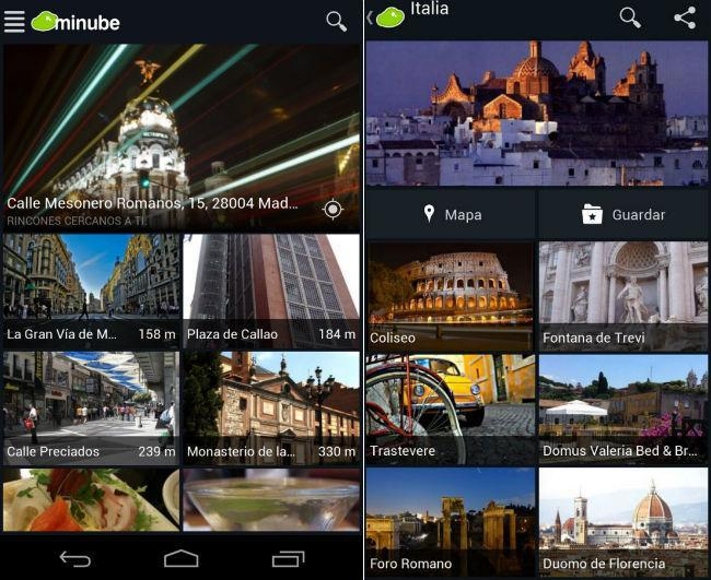Minube viajes android