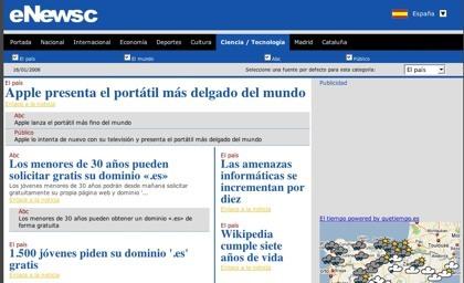 Enewsc, agrupando los principales periódicos online de cada país
