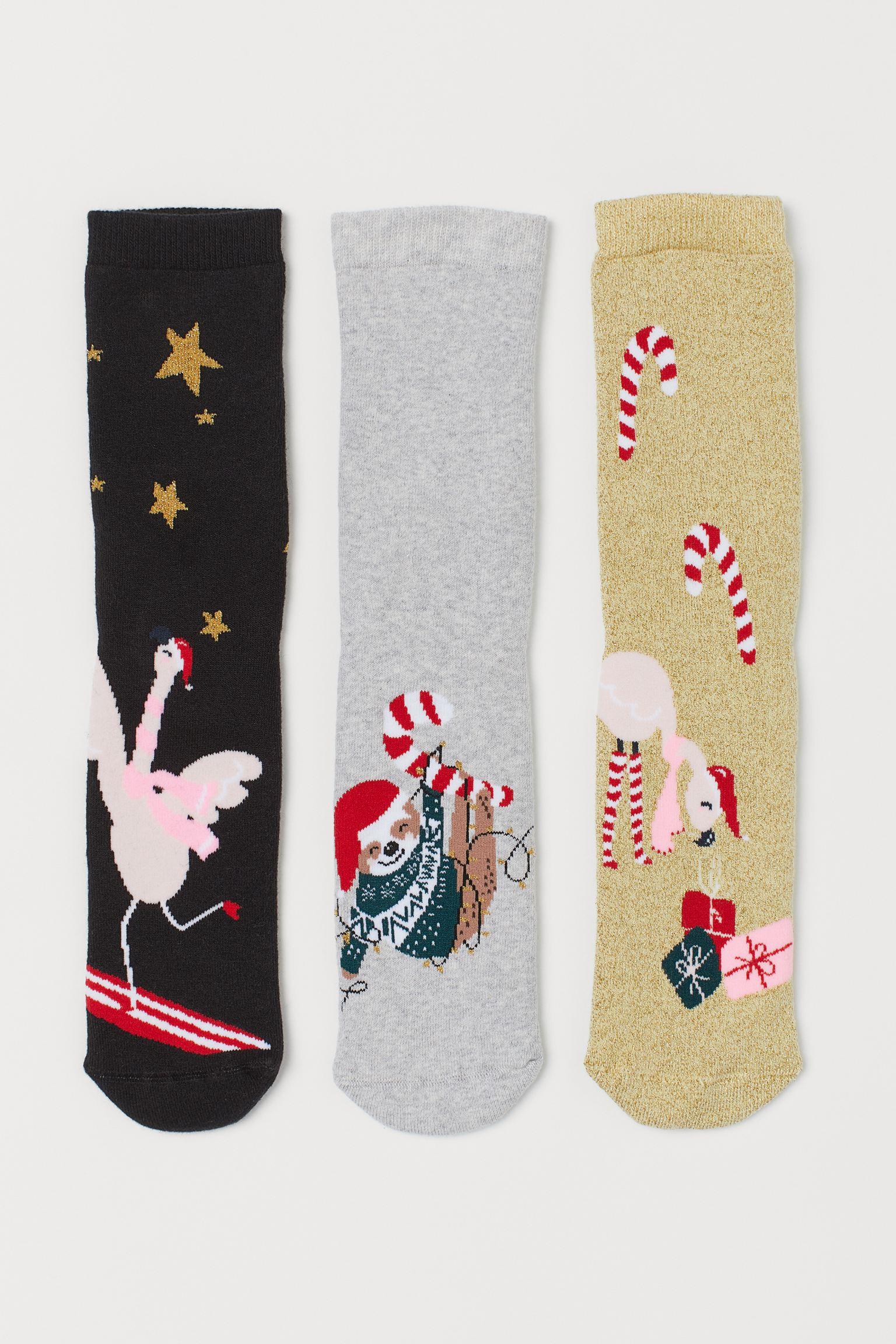 Pack de tres calcetines navideños