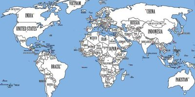 Un mapa donde cada país ocupa su lugar
