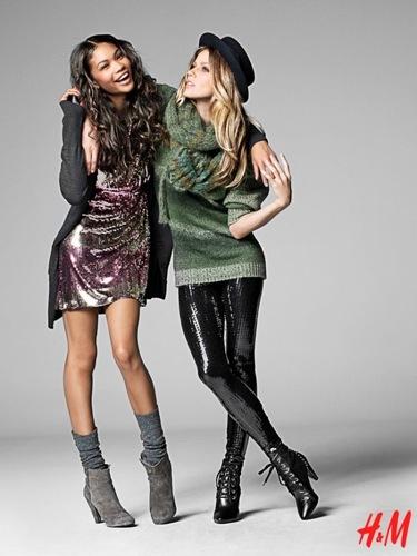 Más looks y tendencias de HM de cara al Otoño-Invierno 2009/2010, con Chanel Iman y Masha Novoselova, estilo glam