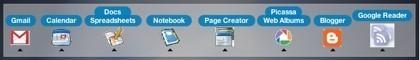 Google Apps: Widget en forma de dock con todas las aplicaciones Google