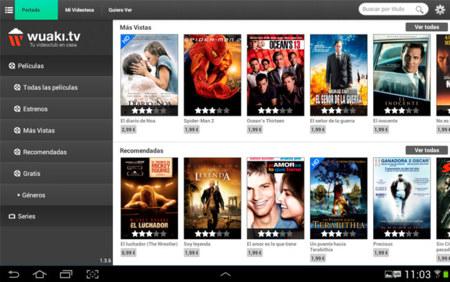 La aplicación de Wuaki.tv se entrena en Android
