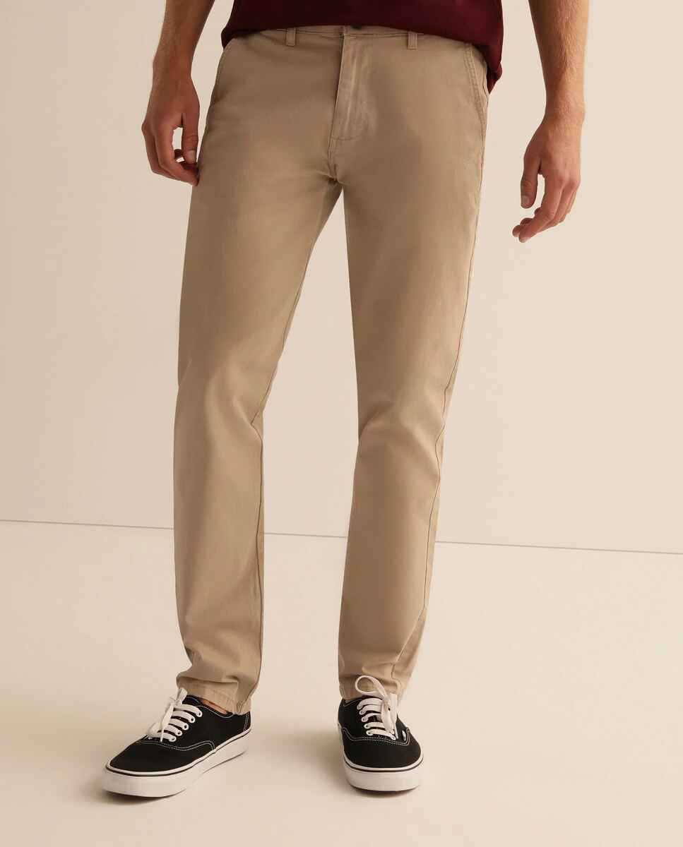 Chino de hombre slim beige de EASY WEAR