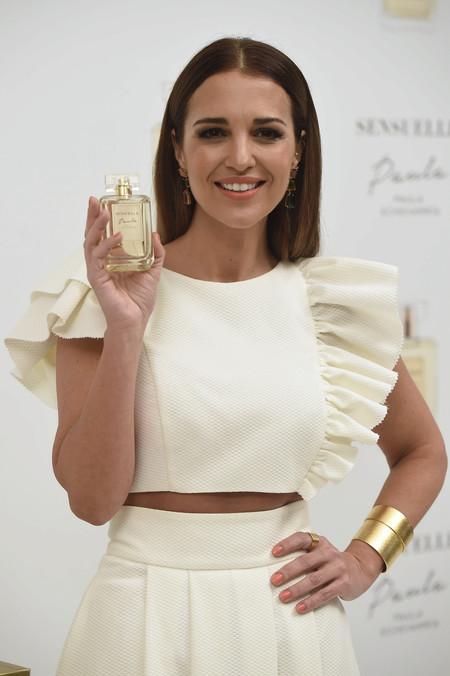 Paula Echevarría reaparece ideal en la presentación de su nuevo perfume, Sensuelle