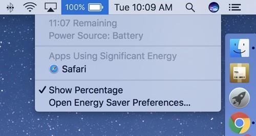 Por qué macOS 10.12.2 ha eliminado el indicador de tiempo de batería restante y cómo recuperarlo