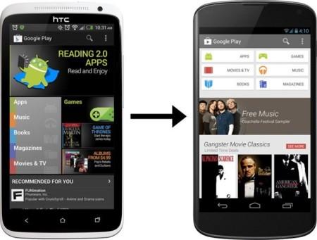 Google Play se rediseña y adopta la línea de otros servicios de Google