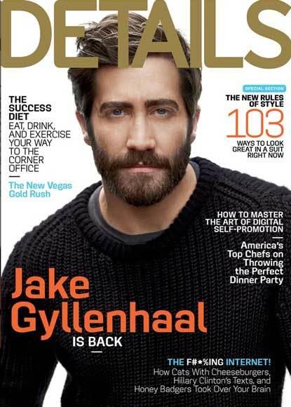 Jake Gyllenhaal, portada de 'Details'