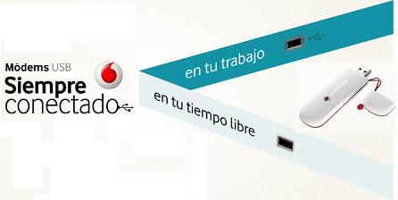 Más velocidad para internet móvil de Vodafone con HSPA+ y nuevo módem USB
