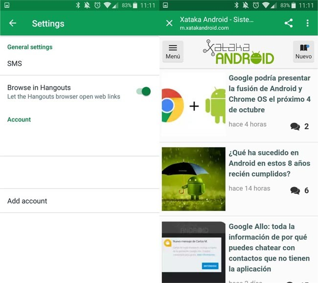 13.0 Hangouts with Chrome Custom Tabs and Lots of Emotes to Flip Tables as Never