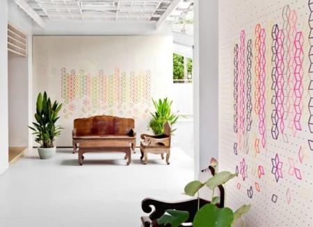 ¿Buscas originalidad en decoración? No pintes tus paredes, cóselas