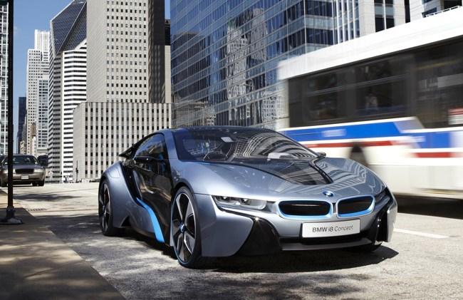 BMW i8 Concept en la calle