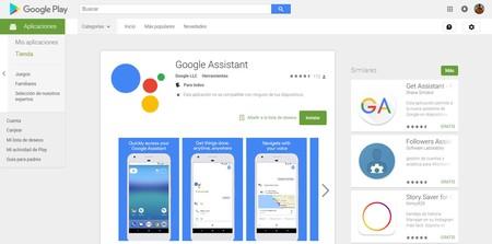 La aplicación de Google Assistant ya está disponible en la Google Play Store, pero no te emociones mucho