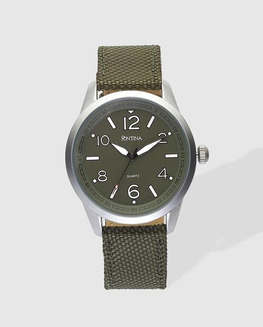 Reloj de hombre Pontina textil verde