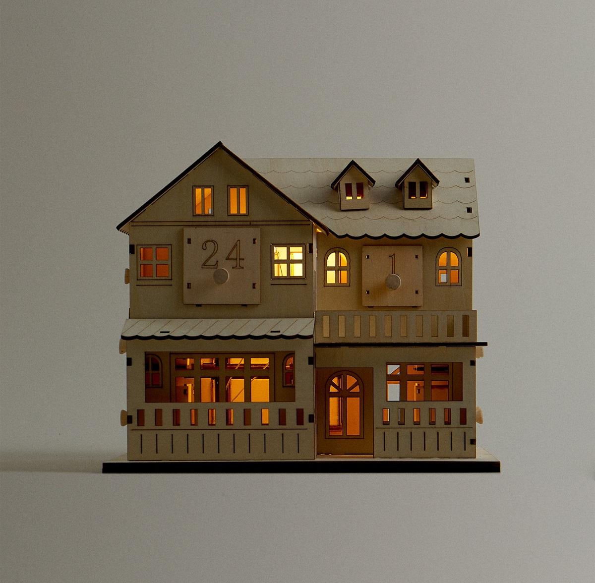 Calendario con forma de casita