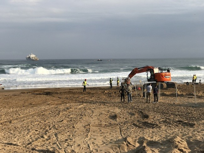 Comienza el tendido de Marea, el cable submarino con mayor capacidad que unirá Sopela y Virginia