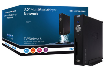 Media Player CSM3NET de Conceptronic con conexión de red