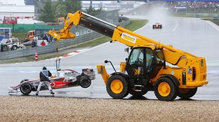 Lewis Hamilton Grua Nurburgring