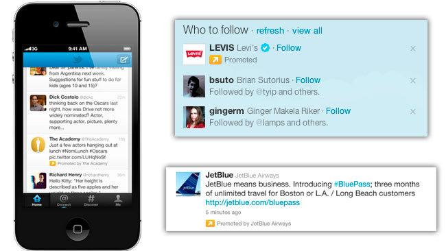 Los tweets promocionados llegan a las versiones móviles
