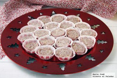 Espirales de jamón y paté. Receta de Navidad