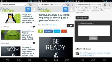 Nueva versión móvil de Xataka Android