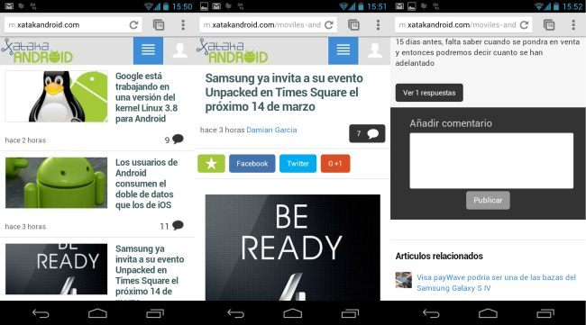 Xataka Android en el móvil