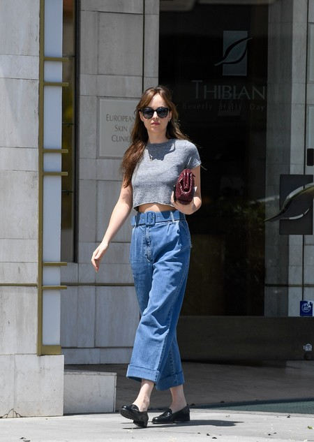 dakota johnson street style look
