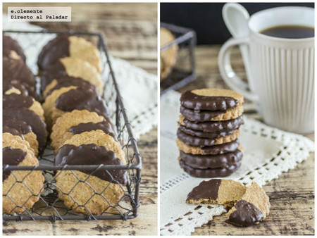 Galletas integrales con chocolate. Receta
