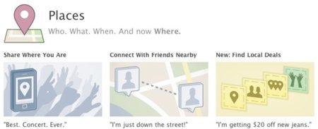 Facebook Places ya funciona en España