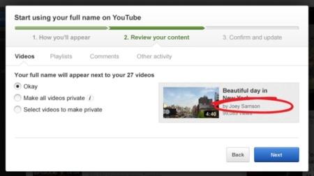 Google+ permite usar nuestro nombre completo en nuestra cuenta de YouTube