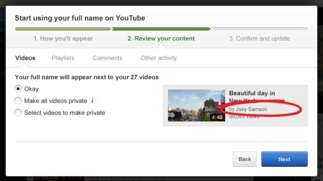 youtube google+ nombre usuario cuenta
