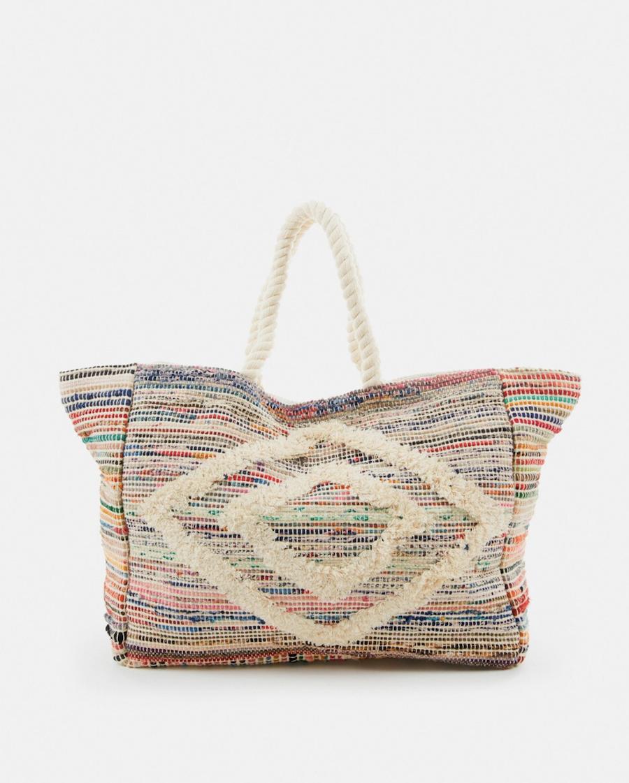 Shopping playera de algodón Abbacino con rayas multicolores
