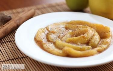 Compota de manzanas al brandy. Receta