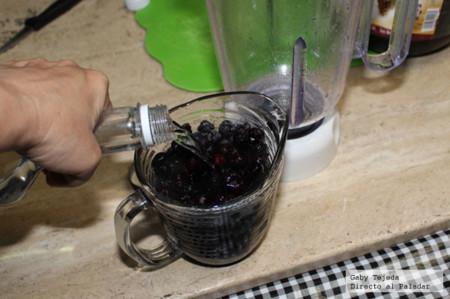 Blue berry mora azul y alcohol