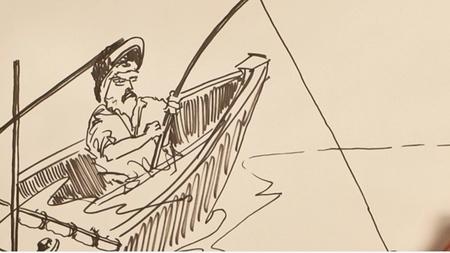 Un original resumen de 'El viejo y el mar' en stop motion