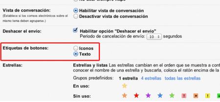 Cómo recuperar los botones con texto en Gmail