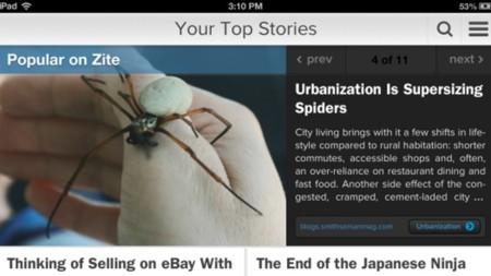 Zite para iPad: módulo de noticias populares