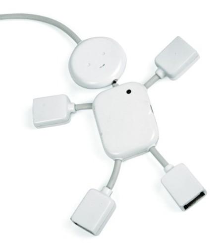 USB Hubman, puertos USB a mano y a pie