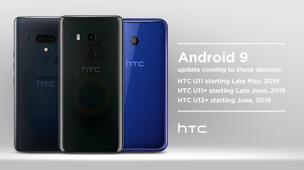 HTC avisa la venida de Android-OS 9 Pie a HTC® U11, HTC® U11+ y HTC® U12+