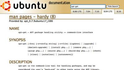 """Ubuntu Manpage Repository: todas las páginas del """"man"""" de Ubuntu disponibles online"""